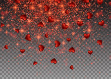 Realistic particle glitter effect. Abstract falling sparkling vector illustration
