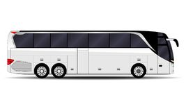 Realistic passengers bus. Side view. public transport Stock Image