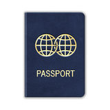 Realistic Passport. Isolated On White. Vector. Illustration vector illustration