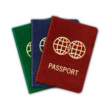 Realistic Passport Set. Isolated On White Royalty Free Stock Images