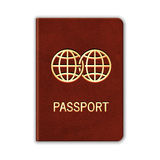 Realistic Passport.  On White Royalty Free Stock Photos