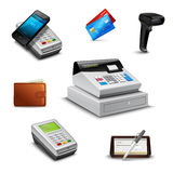 Realistic Payment Set Royalty Free Stock Image