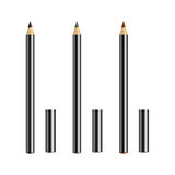 Realistic pencils for make-up of eyebrows or eyes. Stock Images