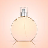 Realistic Perfume Bottle on light background, Glass vial. Vector illustration Royalty Free Stock Photography