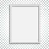 Realistic photo frame on isolated background. Pictures frame vec. Tor illustration. Simple business concept pictogram stock illustration