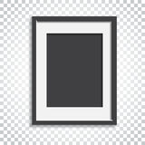 Realistic photo frame on isolated background. Pictures frame vec. Tor illustration. Simple business concept pictogram royalty free illustration