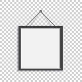 Realistic photo frame isolated on isolated background. Pictures. Frame vector illustration stock illustration