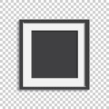 Realistic photo frame isolated on isolated background. Pictures. Frame vector illustration royalty free illustration