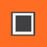 Realistic photo frame isolated on orange background. Pictures fr. Ame vector illustration royalty free illustration