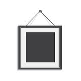 Realistic photo frame isolated on white background. Pictures fra. Me vector illustration vector illustration