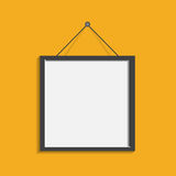 Realistic photo frame isolated on yellow background. Pictures fr. Ame vector illustration vector illustration