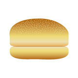 Realistic picture bread hamburger icon food. Illustration Stock Photography