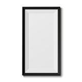 Realistic picture frame Stock Images