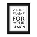 Realistic picture frame  on white background. Perfect for your presentations. Royalty Free Stock Image