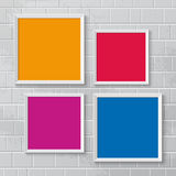 Realistic picture frames, options banners Stock Image