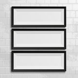 Realistic picture frames Royalty Free Stock Images