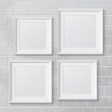 Realistic picture frames Stock Photography