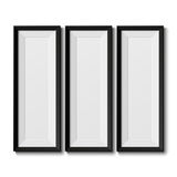 Realistic picture frames Royalty Free Stock Photo