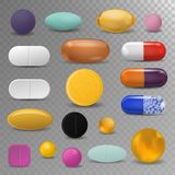 Realistic pills blister pack medical tabs vitamin  Royalty Free Stock Photo