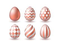 Realistic golden egg isolated on white background. Vector illustration stock photography