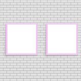 Realistic pink poster frame mock up. Vector. royalty free illustration