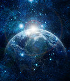 Realistic planet. Earth in space royalty free stock photo