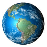Photo realistic planet Earth in transparent background Royalty Free Stock Images