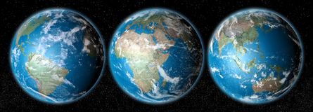 realistic planet earth on space Stock Image
