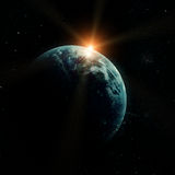 Realistic planet earth in space Stock Images