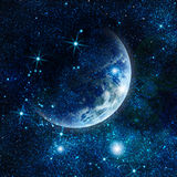 Realistic planet earth in space Royalty Free Stock Images