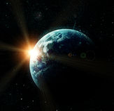 Realistic planet earth in space Royalty Free Stock Image