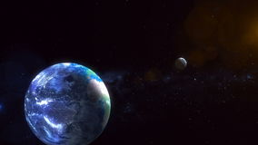 Realistic Planet Earth from space stock video footage