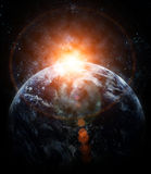 Realistic planet earth in space Royalty Free Stock Photo