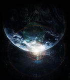 Realistic planet earth in space Royalty Free Stock Photography