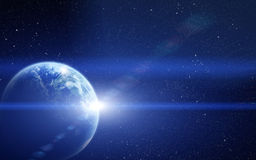 Realistic planet earth in space Stock Photos