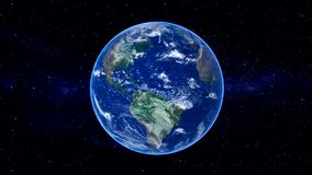 Realistic Planet Earth Video Royalty Free Stock Photo