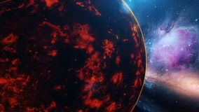 Planet venus on stars background stock footage video of realistic planet venus from space stock video footage voltagebd Choice Image