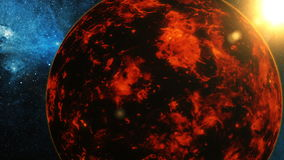 Planet venus on stars background stock footage video of realistic planet venus from space stock video voltagebd Choice Image