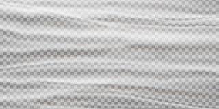 Realistic plastic polyethylene wrap vector texture on abstract background. stock illustration