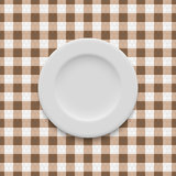 Realistic plate vector Stock Photo