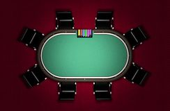 Realistic Poker Table Stock Photo