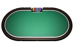 Realistic Poker Table Stock Photography