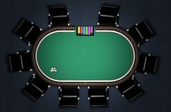 Realistic Poker Table Royalty Free Stock Photos
