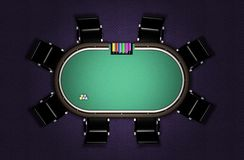 Realistic Poker Table Stock Photos