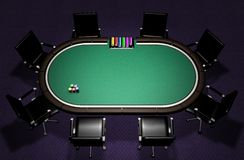 Realistic Poker Table Royalty Free Stock Images