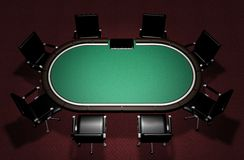 Realistic Poker Table Stock Images