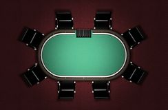 Realistic Poker Table Royalty Free Stock Photography