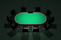 Realistic Poker Table Royalty Free Stock Photo