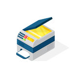 Realistic printer vector isometric illustration. Royalty Free Stock Images