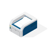 Realistic printer vector isometric illustration. Royalty Free Stock Photo